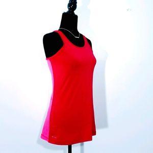 NWOT Nike workout tank top pink racerback large